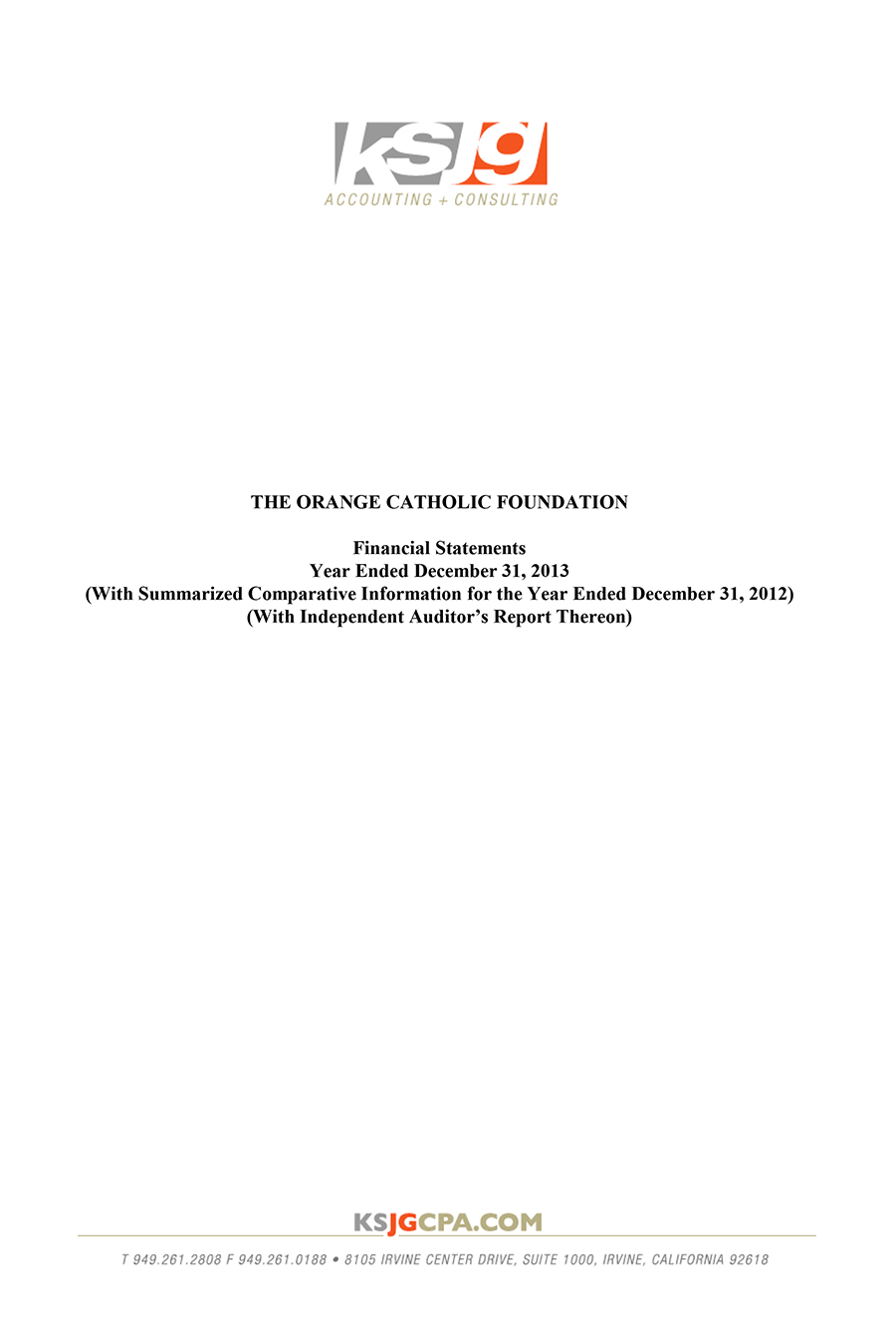 2013 OCF Financial Statement